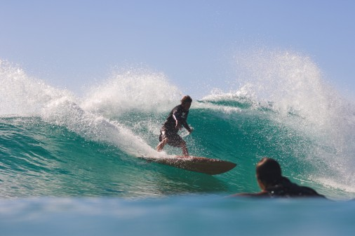 Phil ripping in on one fin!